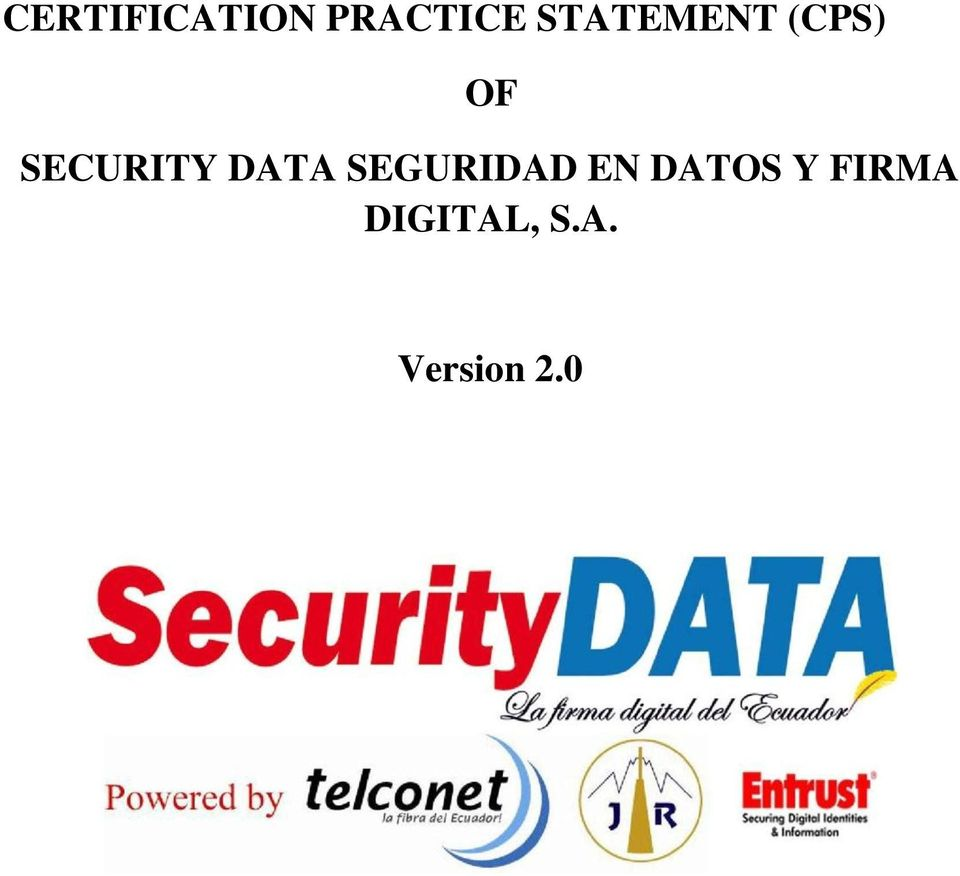 SECURITY DATA SEGURIDAD EN