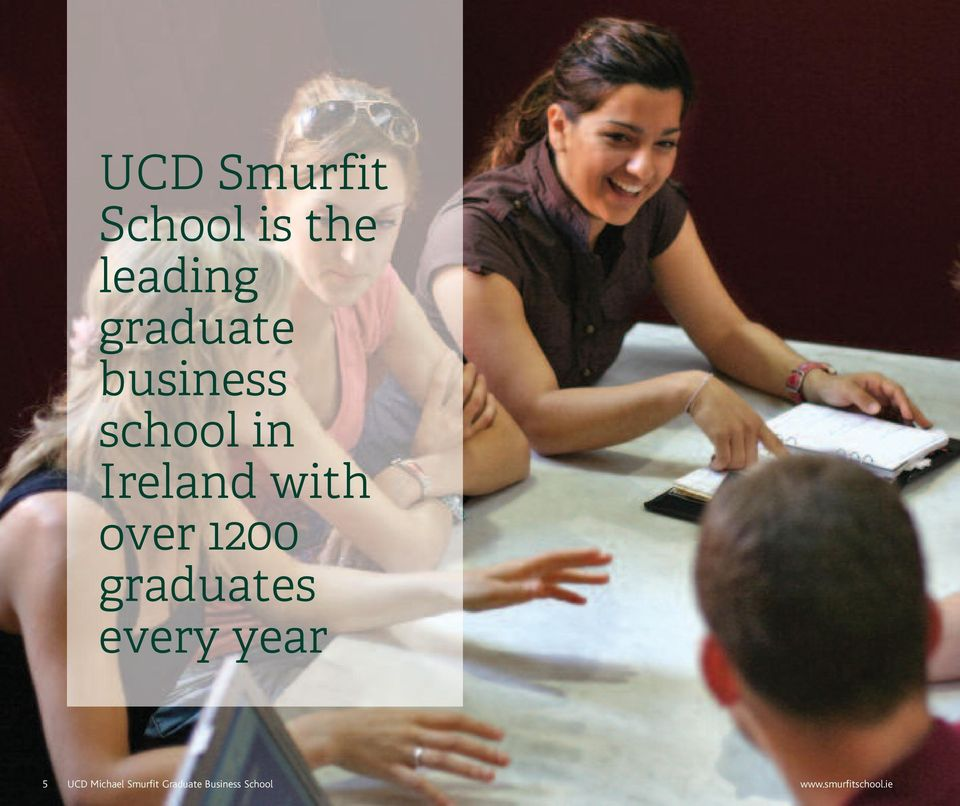 graduates every year 5 UCD Michael Smurfit