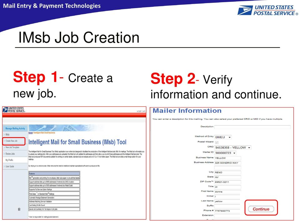 job. Step 2- Verify