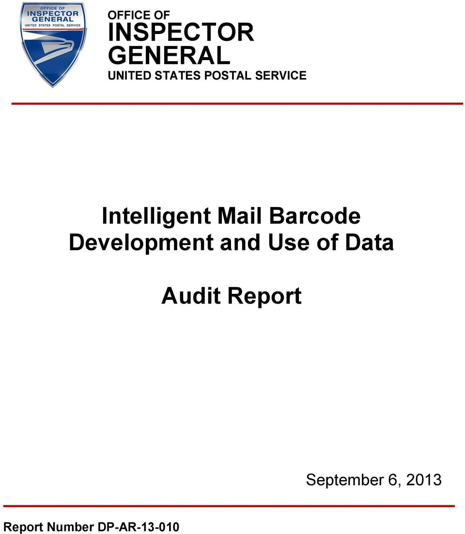 Barcode Development and Use of Data