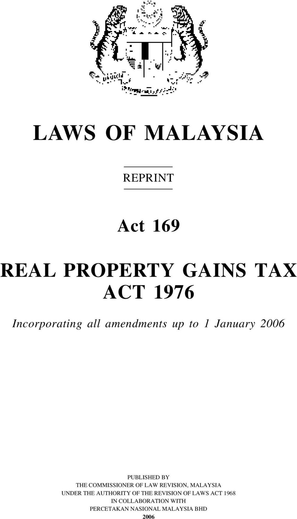 land laws of malaysia Introduction to the sources of law in malaysia laws of malaysia series by code of law governing the tenure of land in malaysia and the.