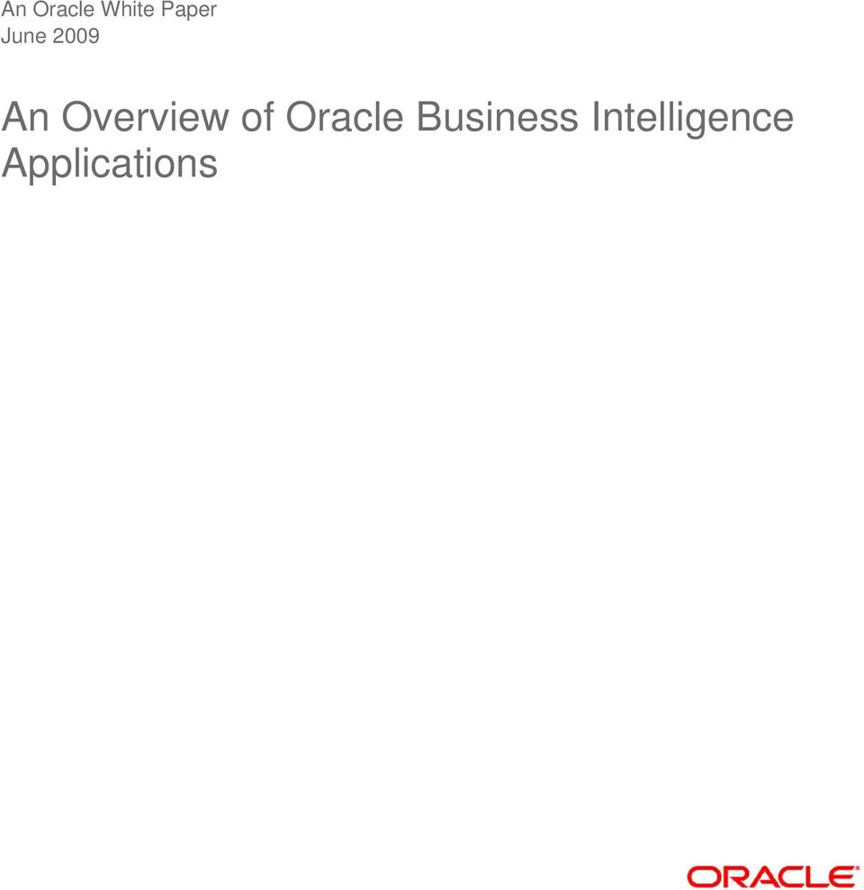 of Oracle Business
