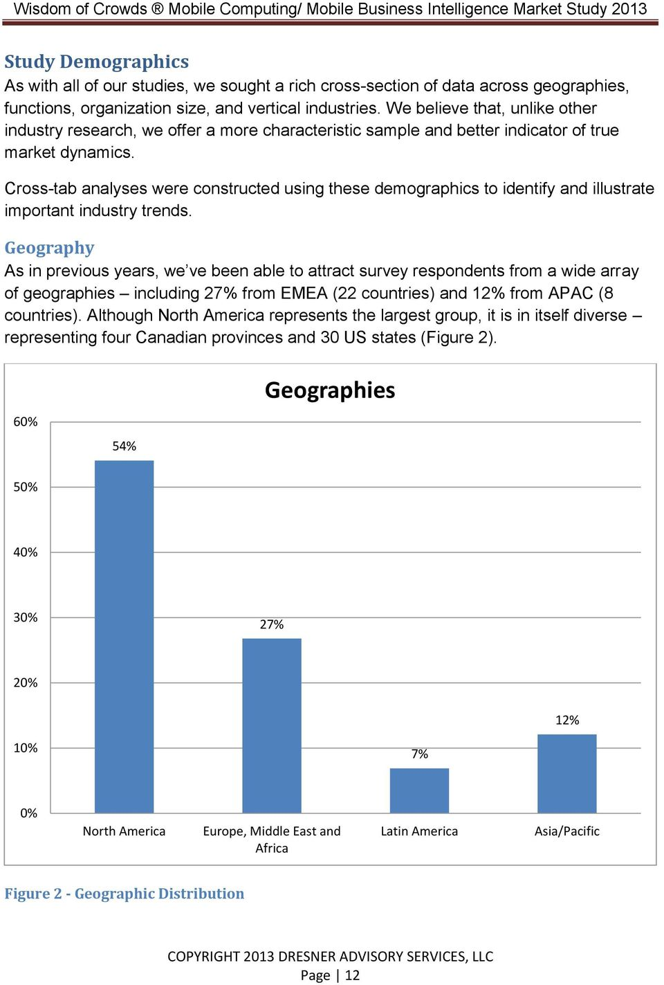 Cross-tab analyses were constructed using these demographics to identify and illustrate important industry trends.