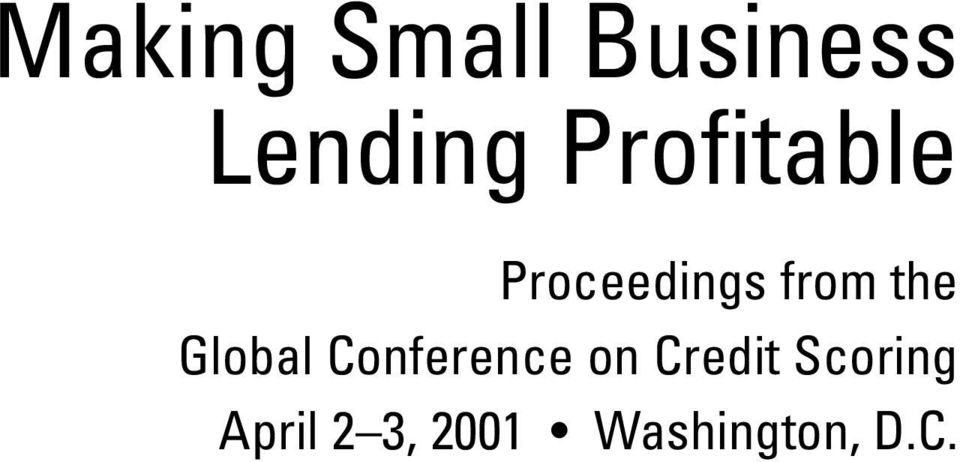 the Global Conference on Credit