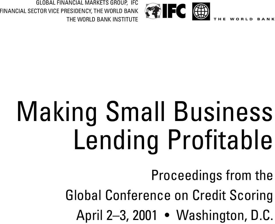 Small Business Lending Profitablessss Proceedings from the