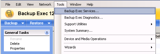 If you have already installed BE, you can verify the user used by BE services from your Windows server in the services management console.