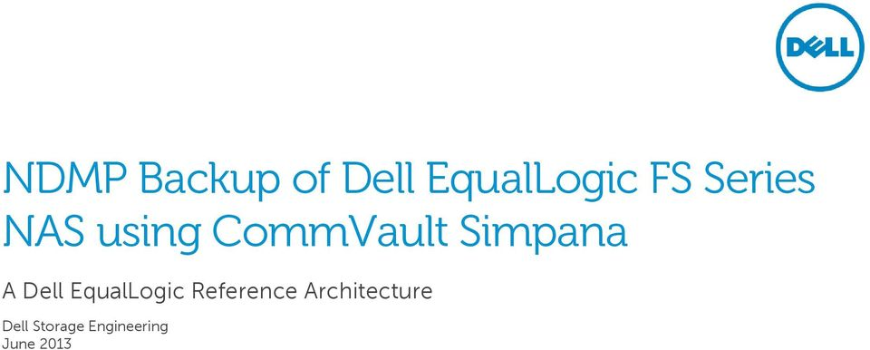 A Dell EqualLogic Reference