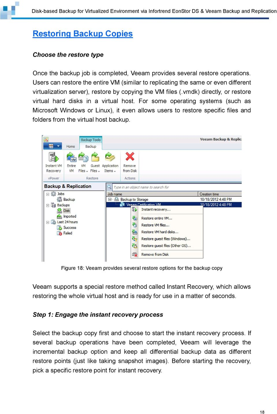 vmdk) directly, or restore virtual hard disks in a virtual host.