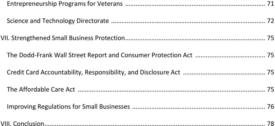 .. 75 The Dodd Frank Wall Street Report and Consumer Protection Act.