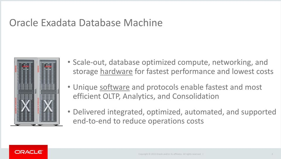 protocols enable fastest and most efficient OLTP, Analytics, and Consolidation