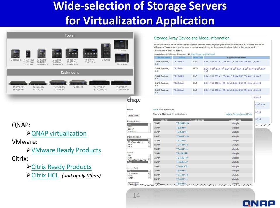 virtualization VMware: VMware Ready Products