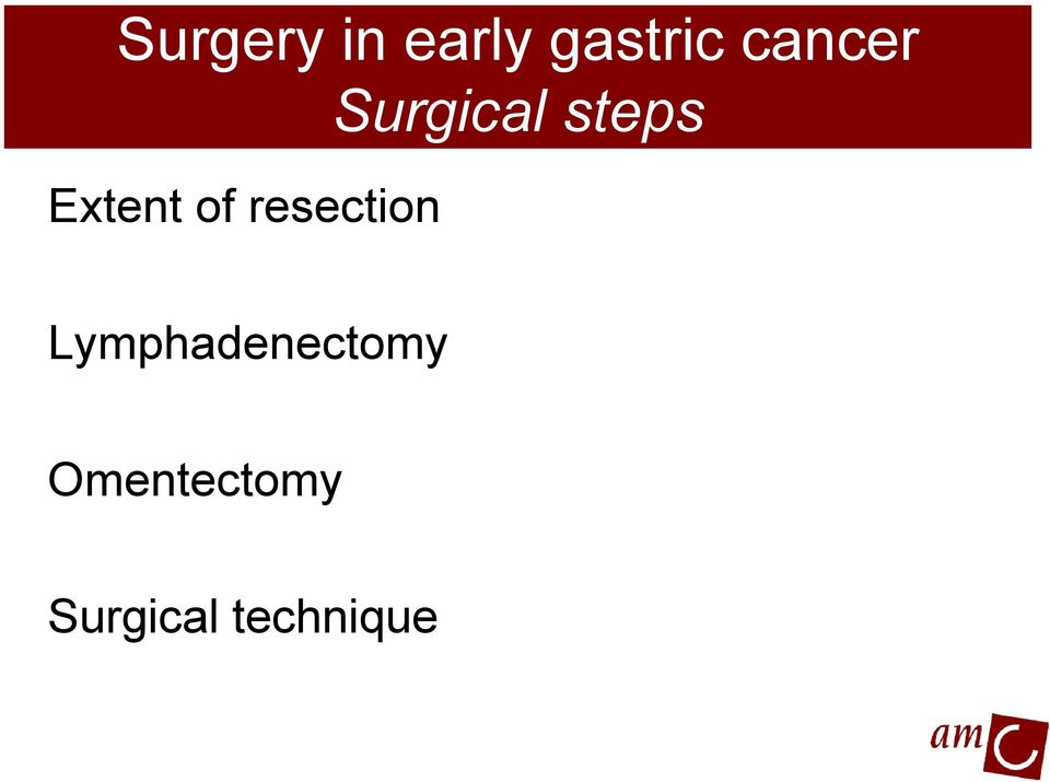 Surgical steps