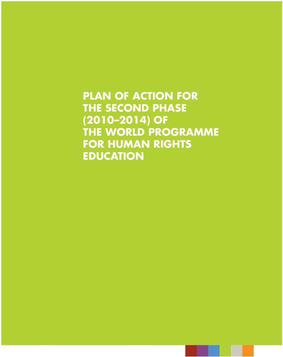 OF THE WORLD PROGRAMME
