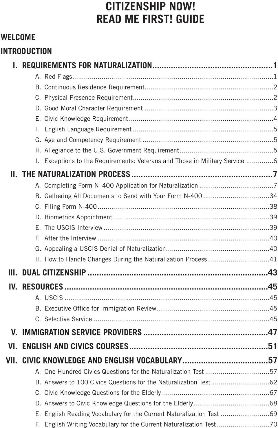 Citizenship now citizenship and naturalization guide pdf exceptions to the requirements veterans and those in military service6 ii falaconquin