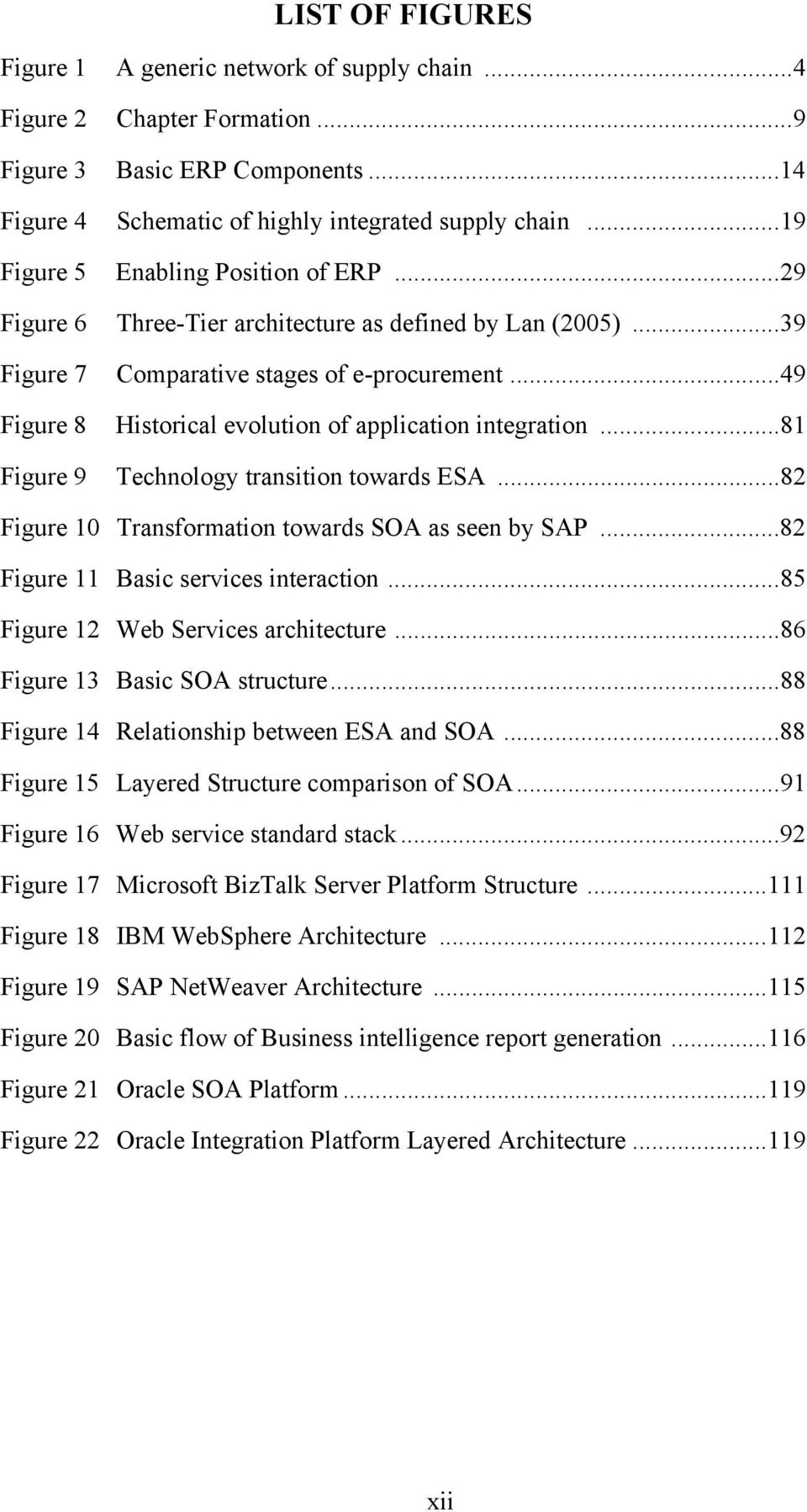 .. 49 Figure 8 Historical evolution of application integration... 81 Figure 9 Technology transition towards ESA... 82 Figure 10 Transformation towards SOA as seen by SAP.