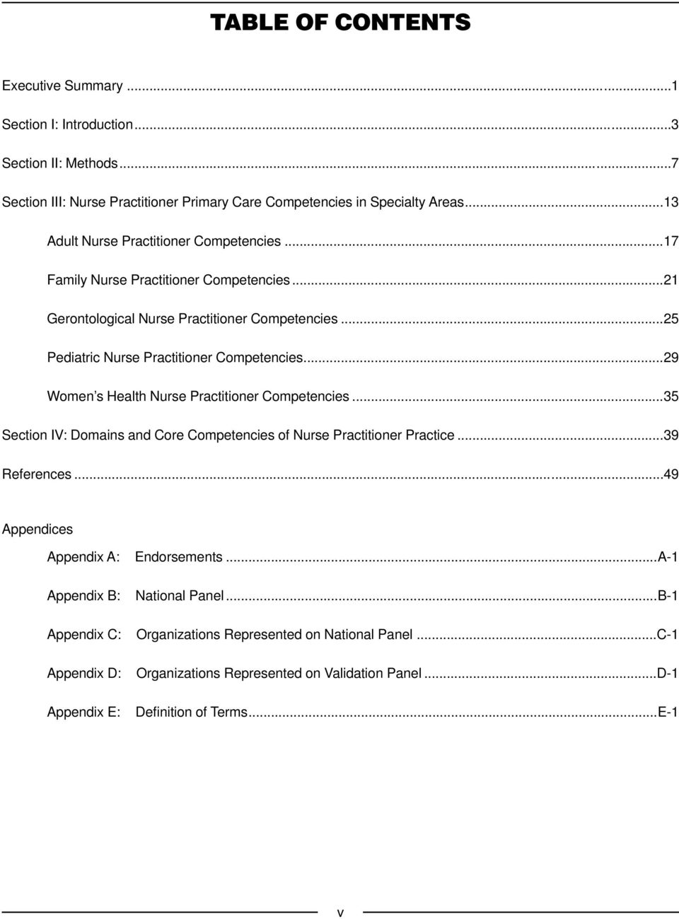 ..29 Women s Health Nurse Practitioner Competencies...35 Section IV: Domains and Core Competencies of Nurse Practitioner Practice...39 References.