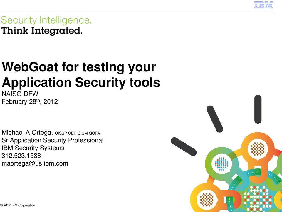 WebGoat for testing your Application Security tools - PDF