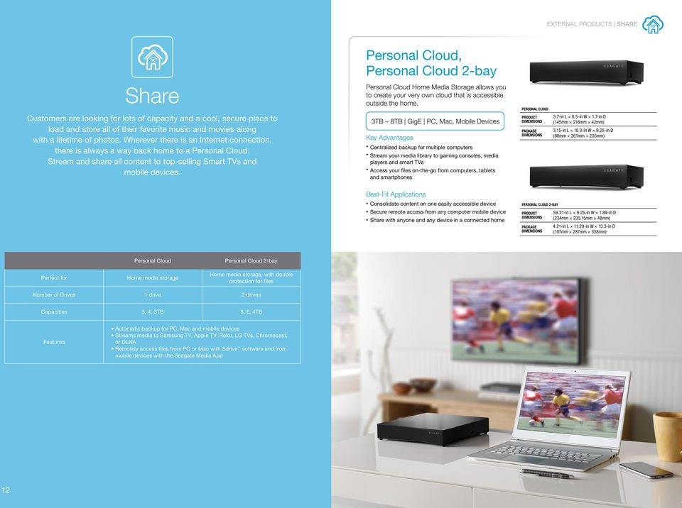 Personal Cloud Home Media Storage allows you to create your very own cloud that is accessible outside the home.