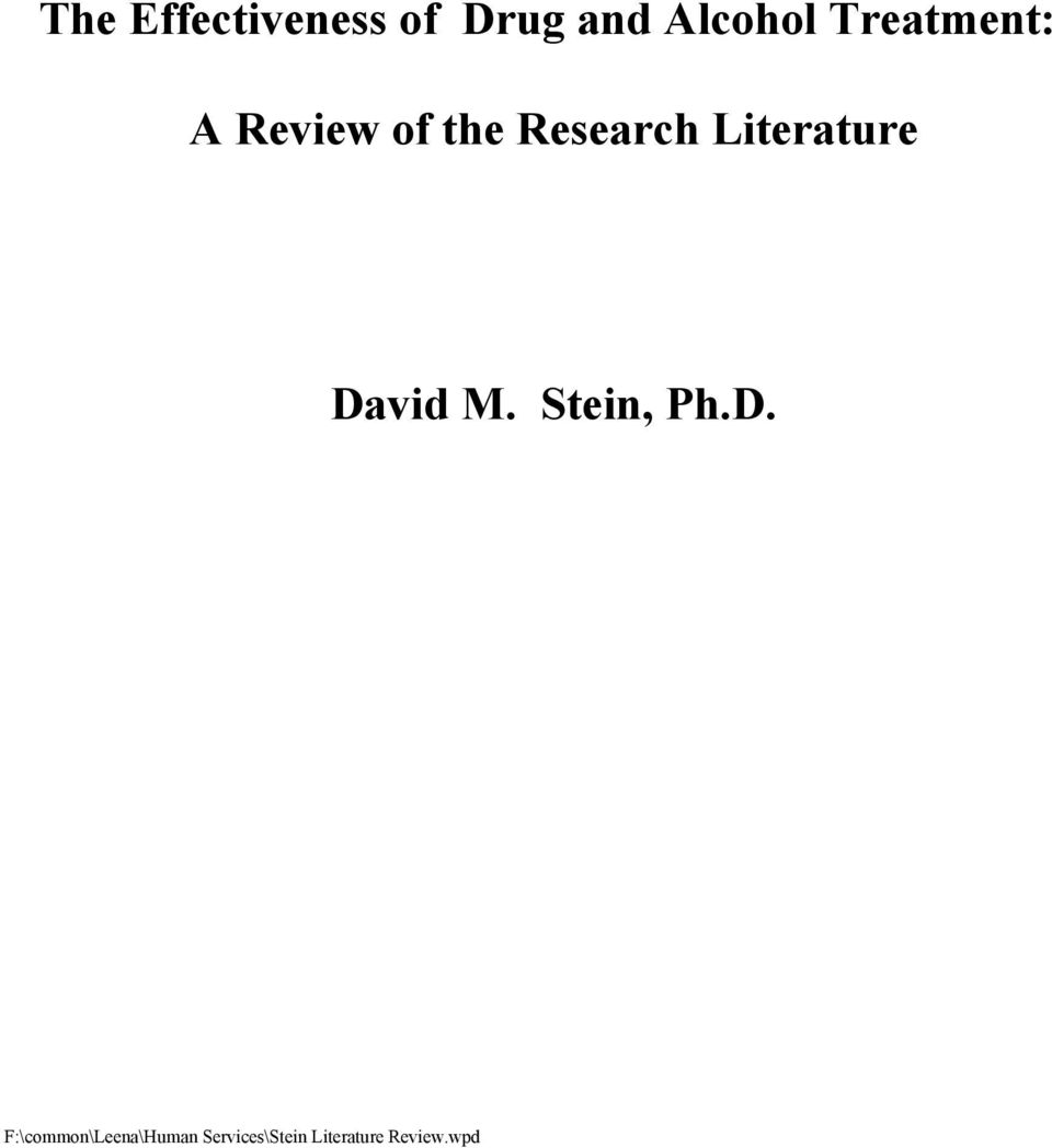 Review of the Research