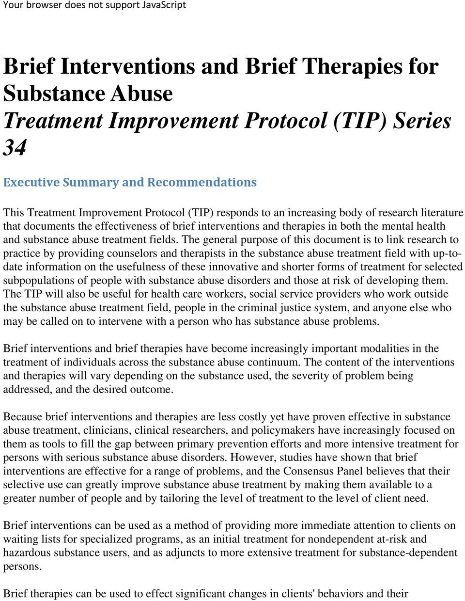substance abuse treatment fields.