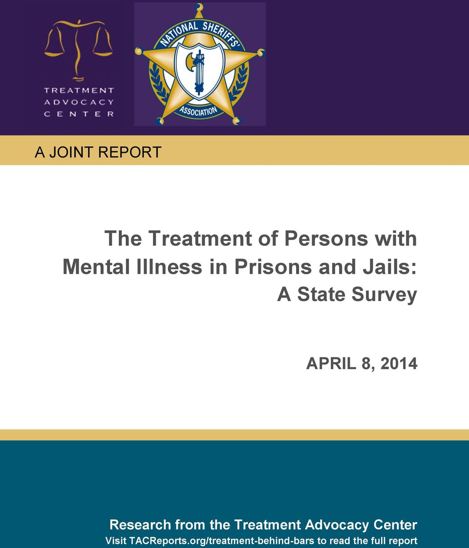 2014 Research from the Treatment Advocacy Center Visit