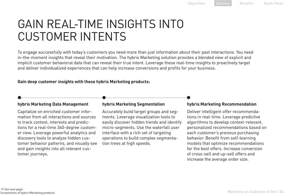 Leverage these real-time insights to proactively target and deliver individualized experiences that can help increase conversions and profits for your business.