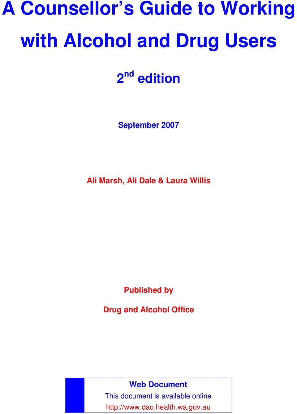 Willis Published by Drug and Alcohol Office Web Document