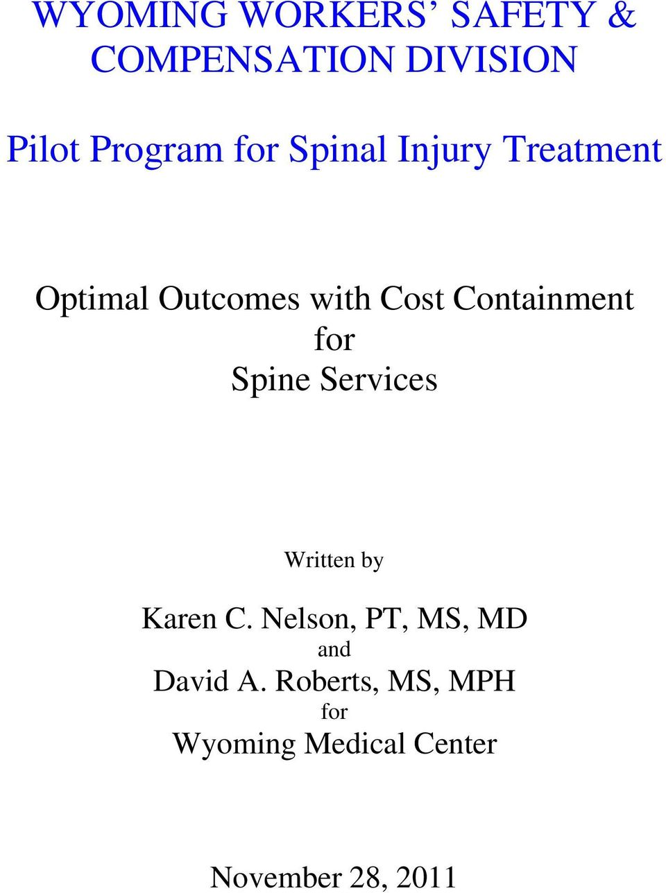 for Spine Services Written by Karen C.