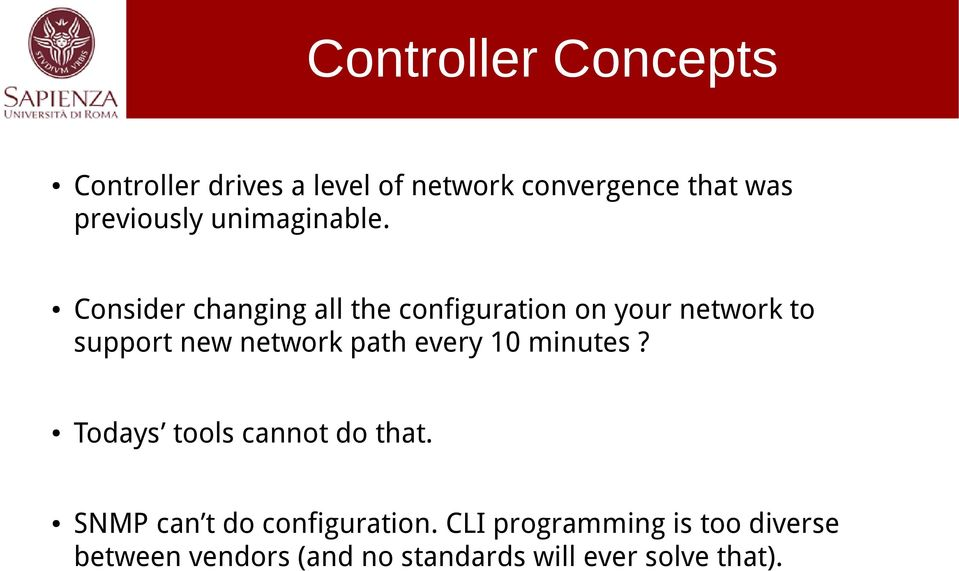 Consider changing all the configuration on your network to support new network path