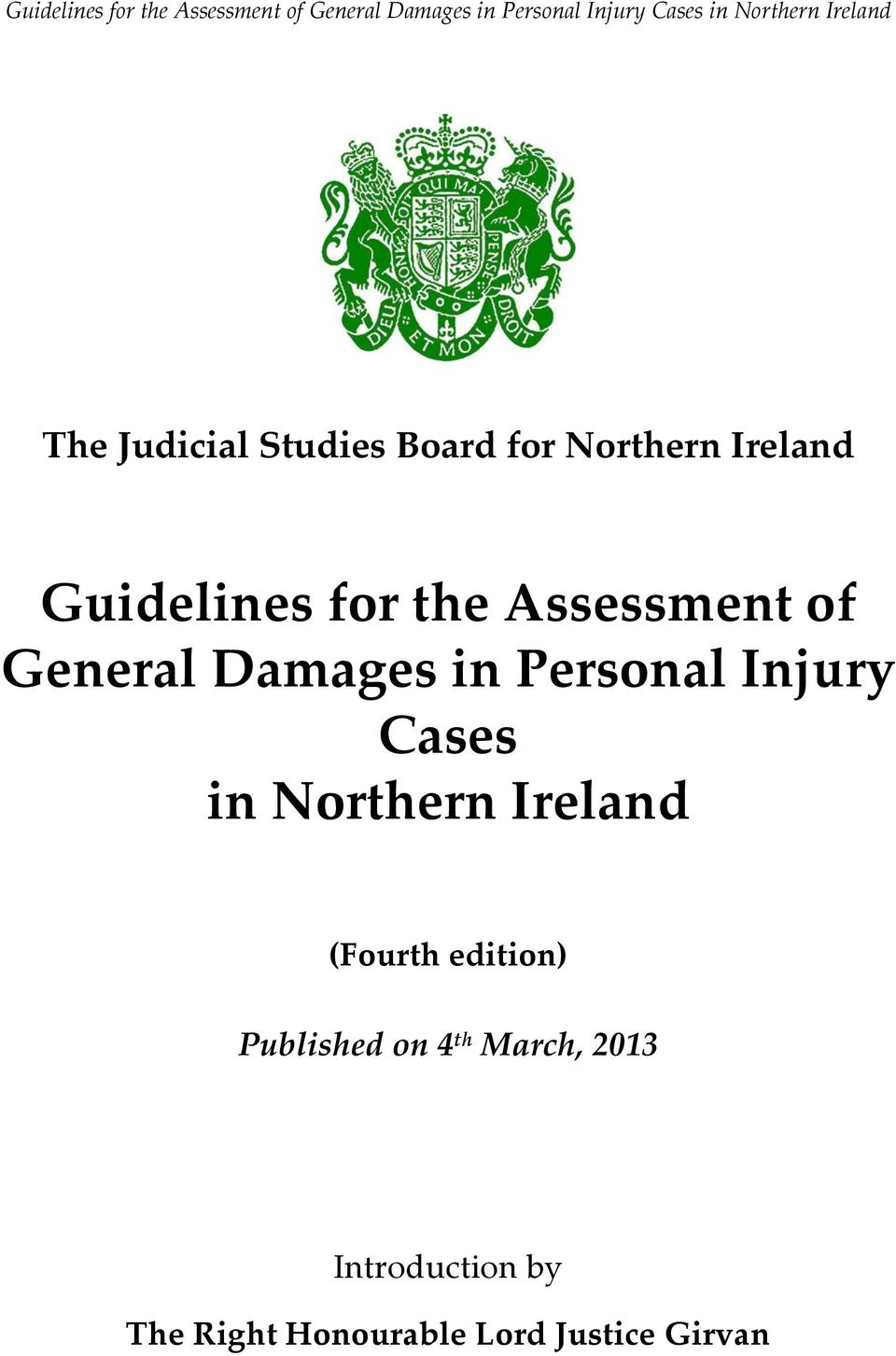Cases in Northern Ireland (Fourth edition) Published on 4 th