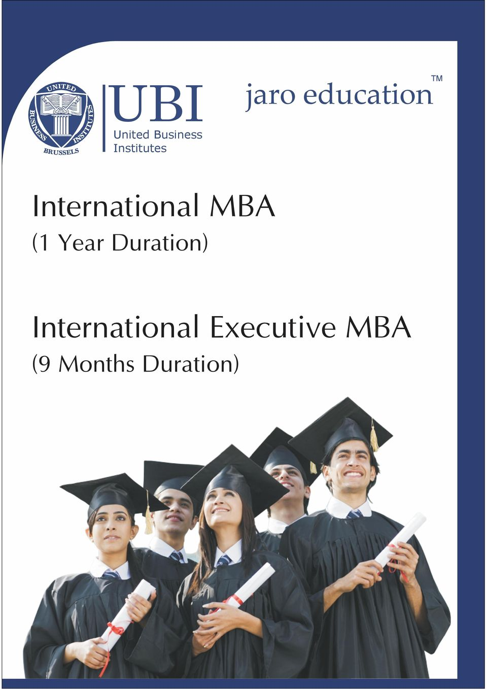 MBA (1 Year Duration)