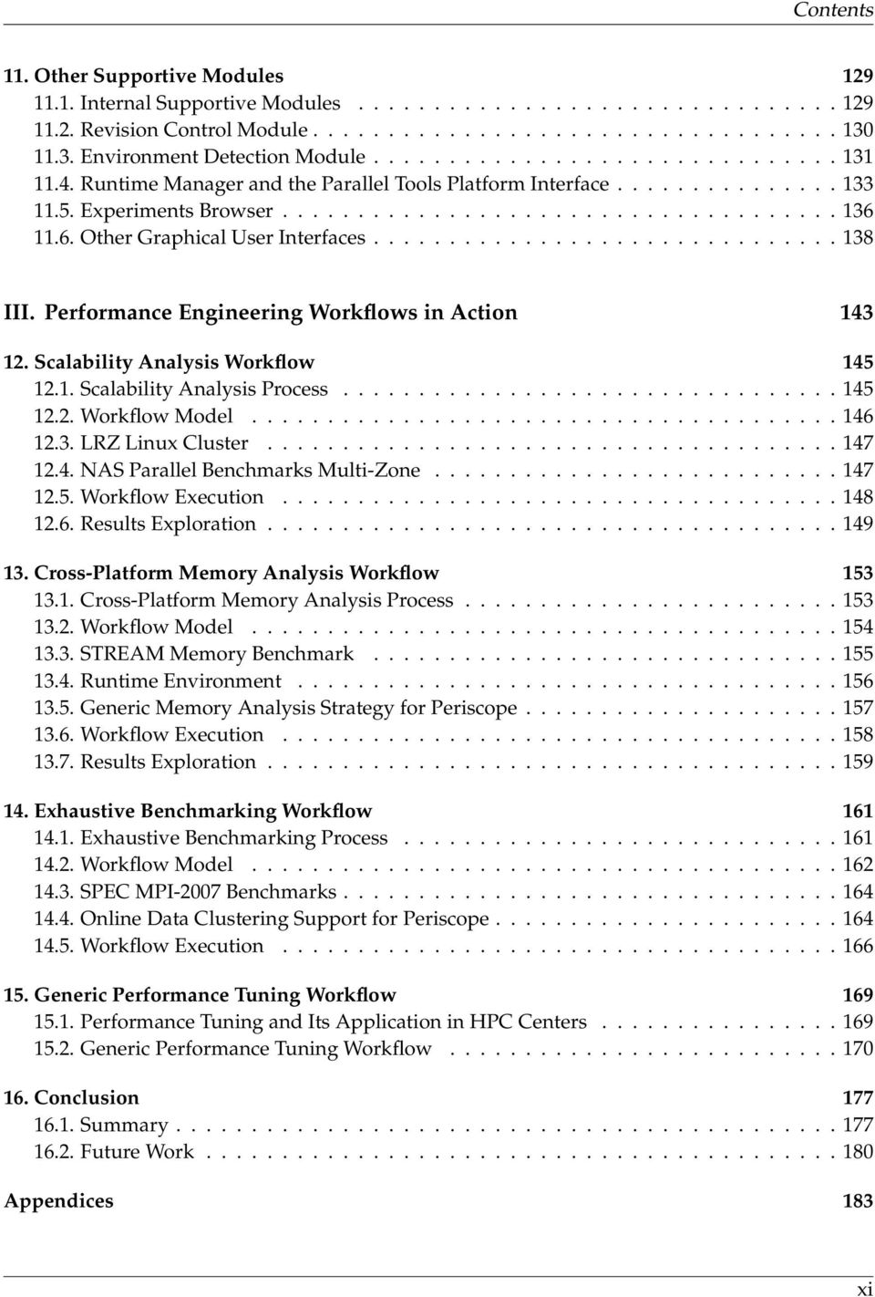 6. Other Graphical User Interfaces............................... 138 III. Performance Engineering Workflows in Action 143 12. Scalability Analysis Workflow 145 12.1. Scalability Analysis Process.