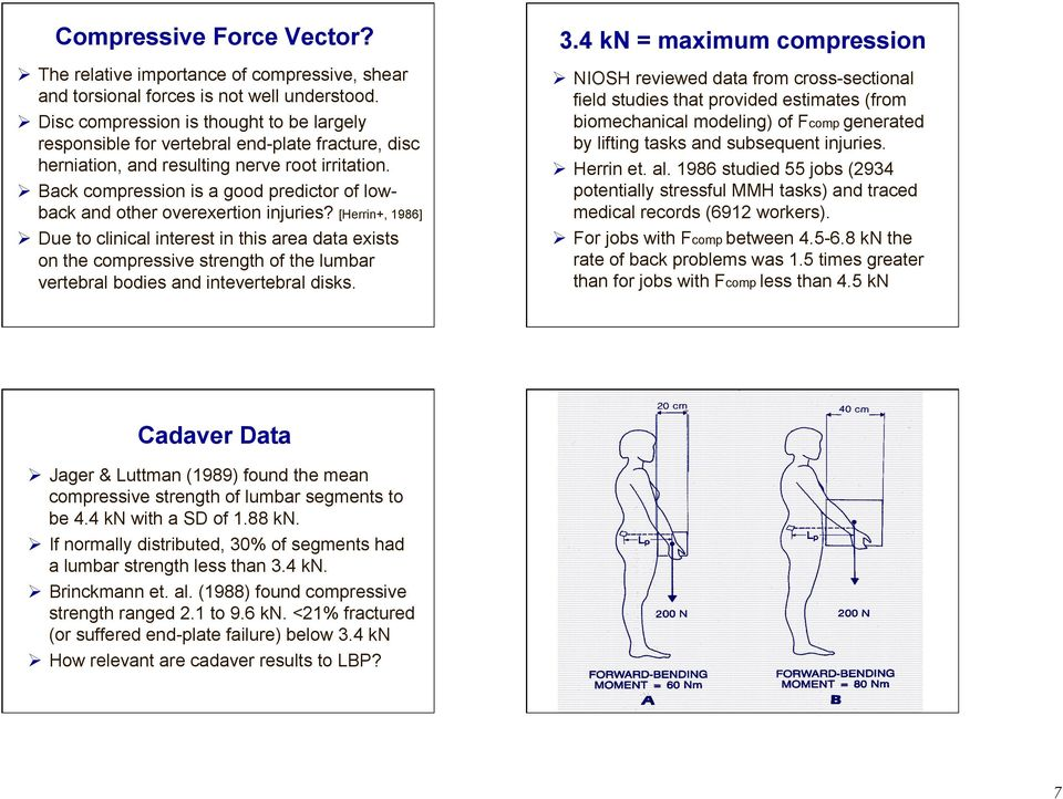 Back compression is a good predictor of lowback and other overexertion injuries?