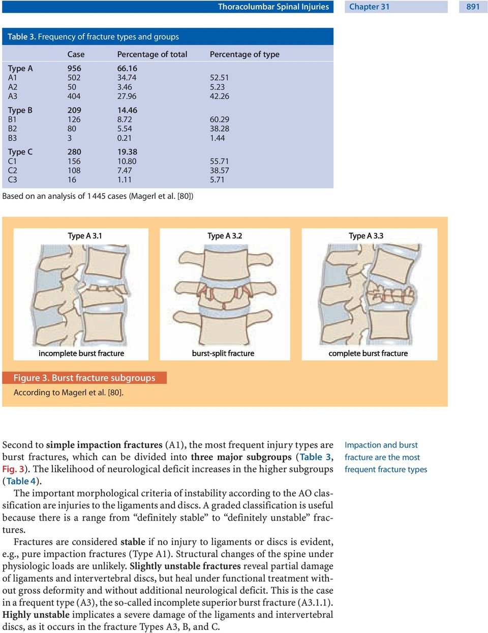[80]) a b c Figure 3. Burst fracture subgroups According to Magerl et al. [80].