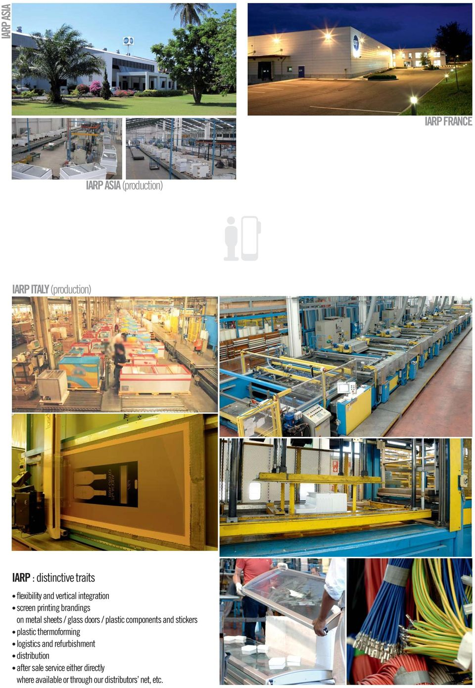 glass doors / plastic components and stickers plastic thermoforming logistics and