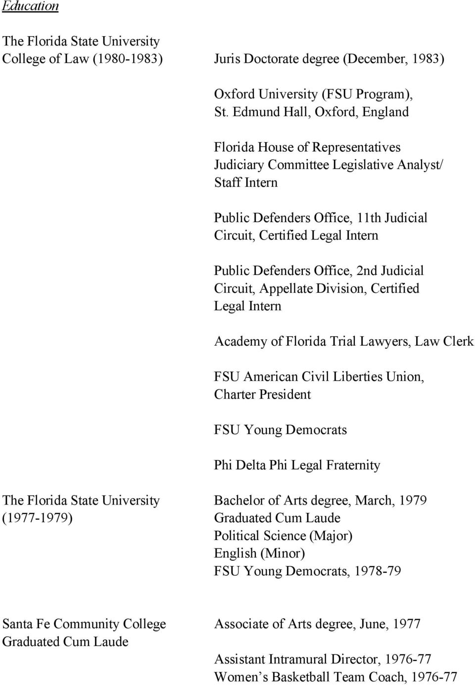 lance j block curriculum vitae pdf defenders office 2nd judicial circuit appellate division certified legal intern academy of florida