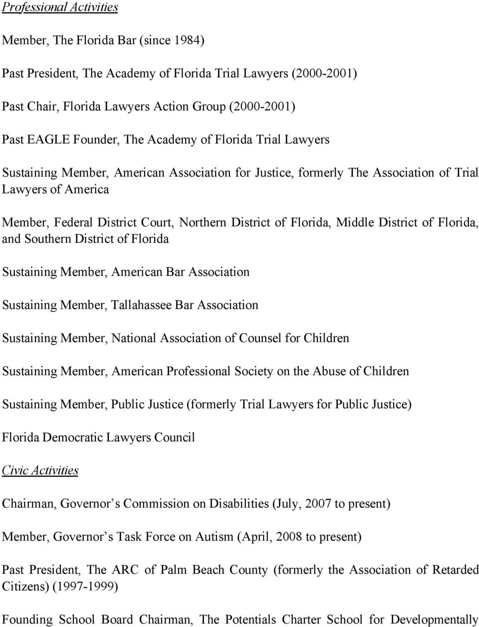 lance j block curriculum vitae pdf florida middle district of florida and southern district of florida sustaining member american