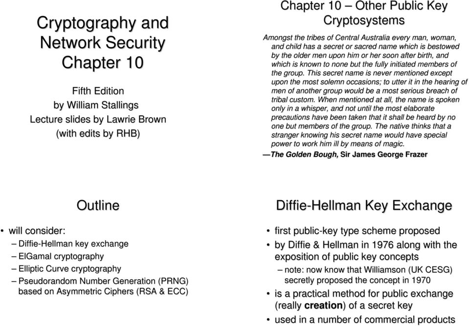 cryptography and network security essay The 16th international conference on applied cryptography and network security (acns2018) will be held in leuven, belgium from 2-4 july 2018 the conference will be organised by the computer security and industrial cryptography (cosic) group at ku leuven the proceedings of acns 2018 will be.