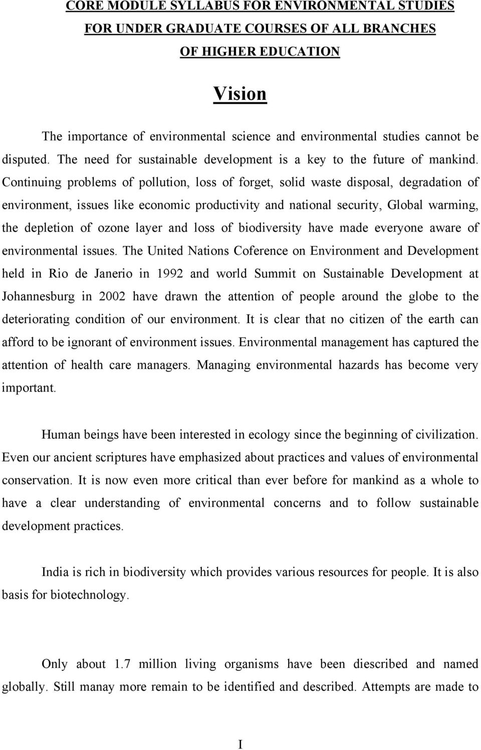 environmental studies for undergraduate courses erach bharucha pdf continuing problems of pollution loss of forget solid waste disposal degradation of environment