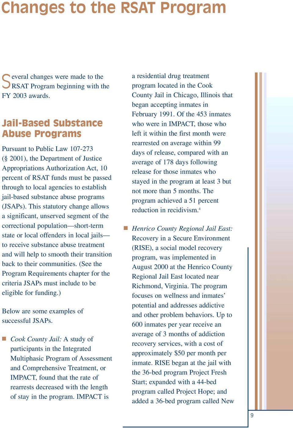 an introduction to jail based substance abuse program