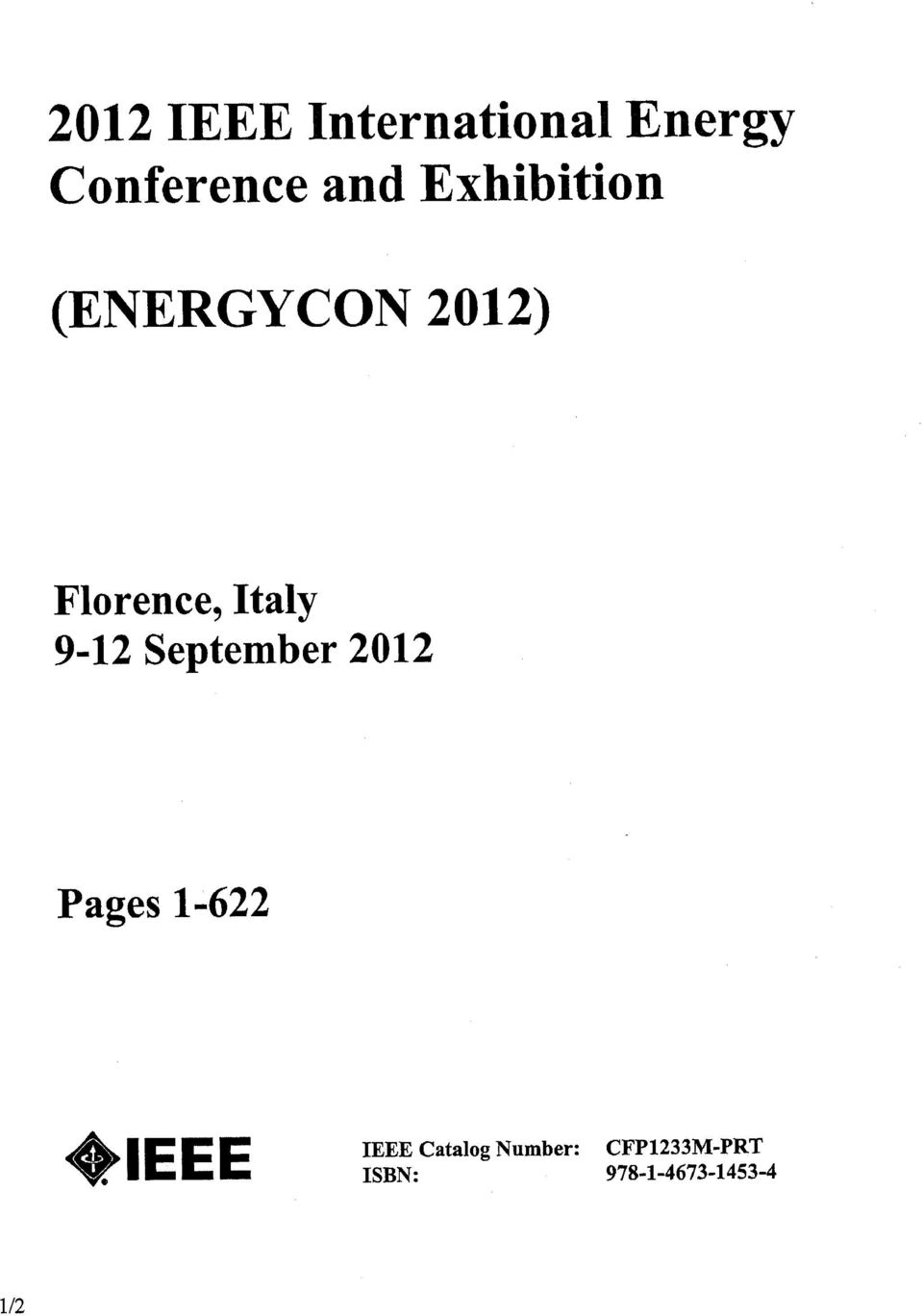 September 2012 Pages 1622 CEP IEEE Catalog