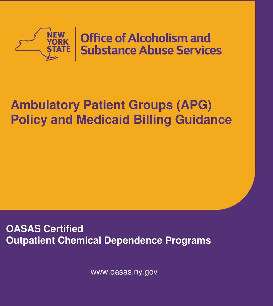 Guidance OASAS Certified Outpatient