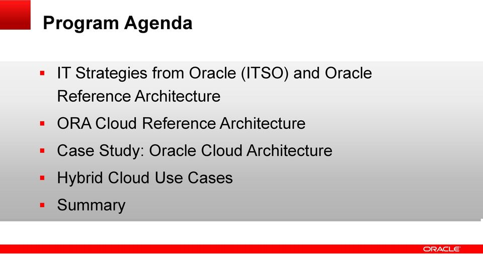 Cloud Reference Architecture Case Study: