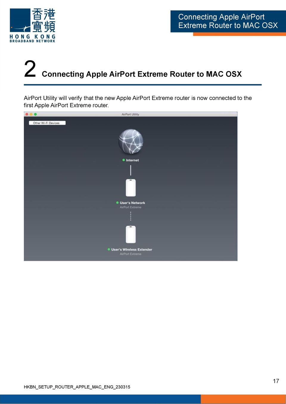 AirPort Extreme router is now connected