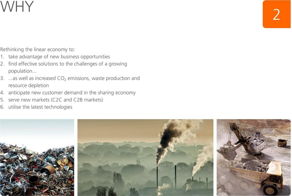 ...as well as increased CO 2 emissions, waste production and resource depletion 4.