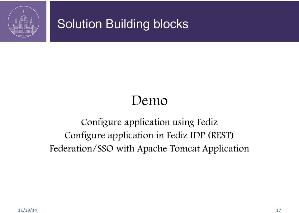 Configure application in Fediz IDP