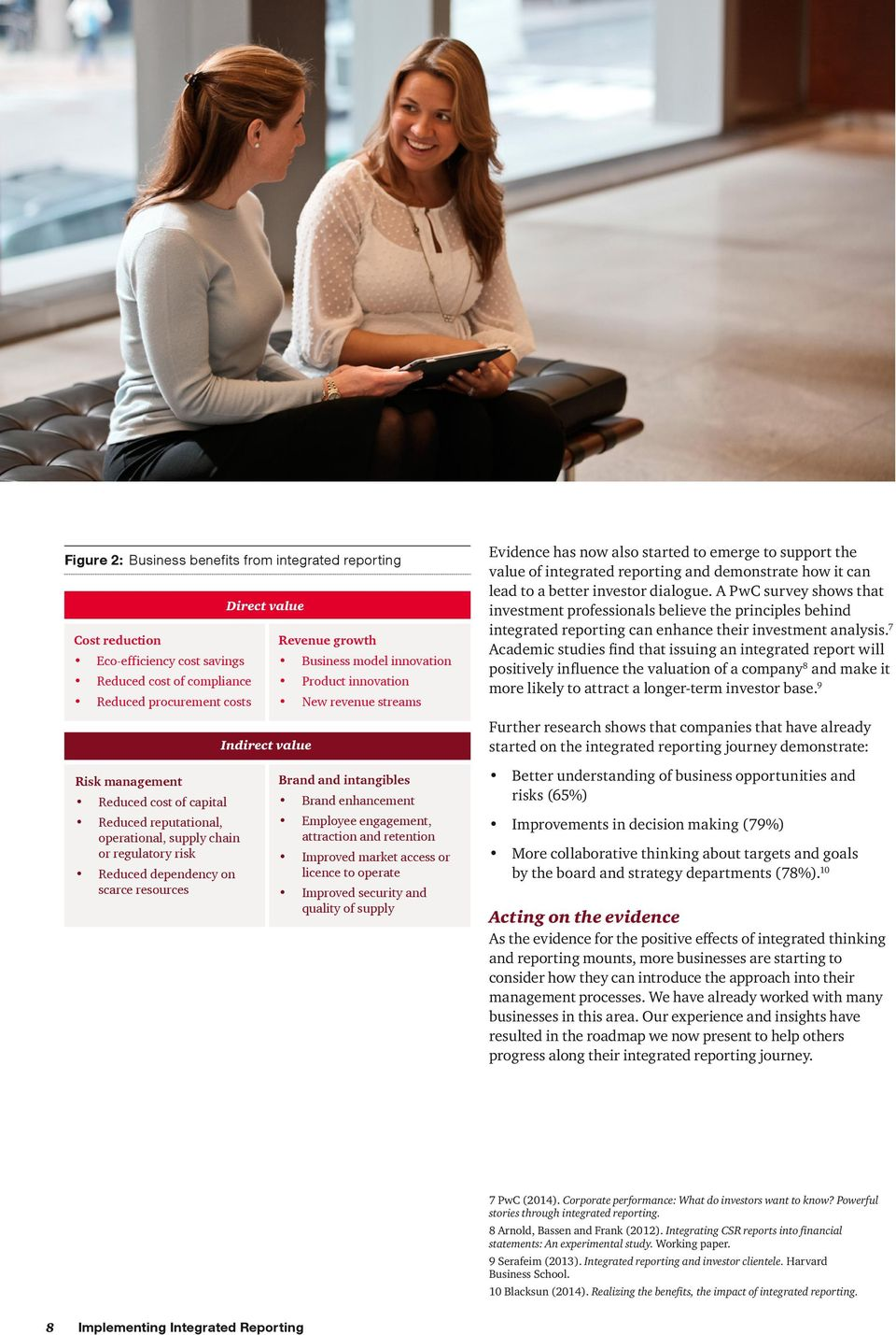 dialogue. A PwC survey shows that investment professionals believe the principles behind integrated reporting can enhance their investment analysis.