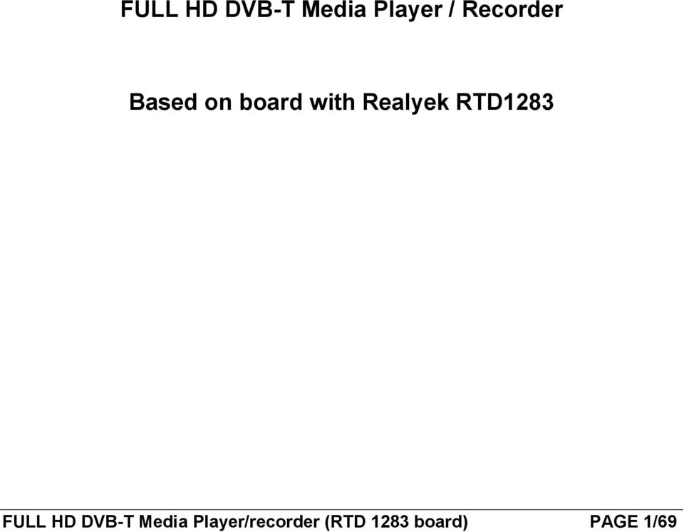 Realyek RTD1283 FULL HD DVB-T