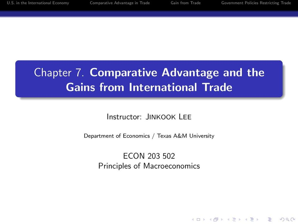 What is 'Comparative Advantage'