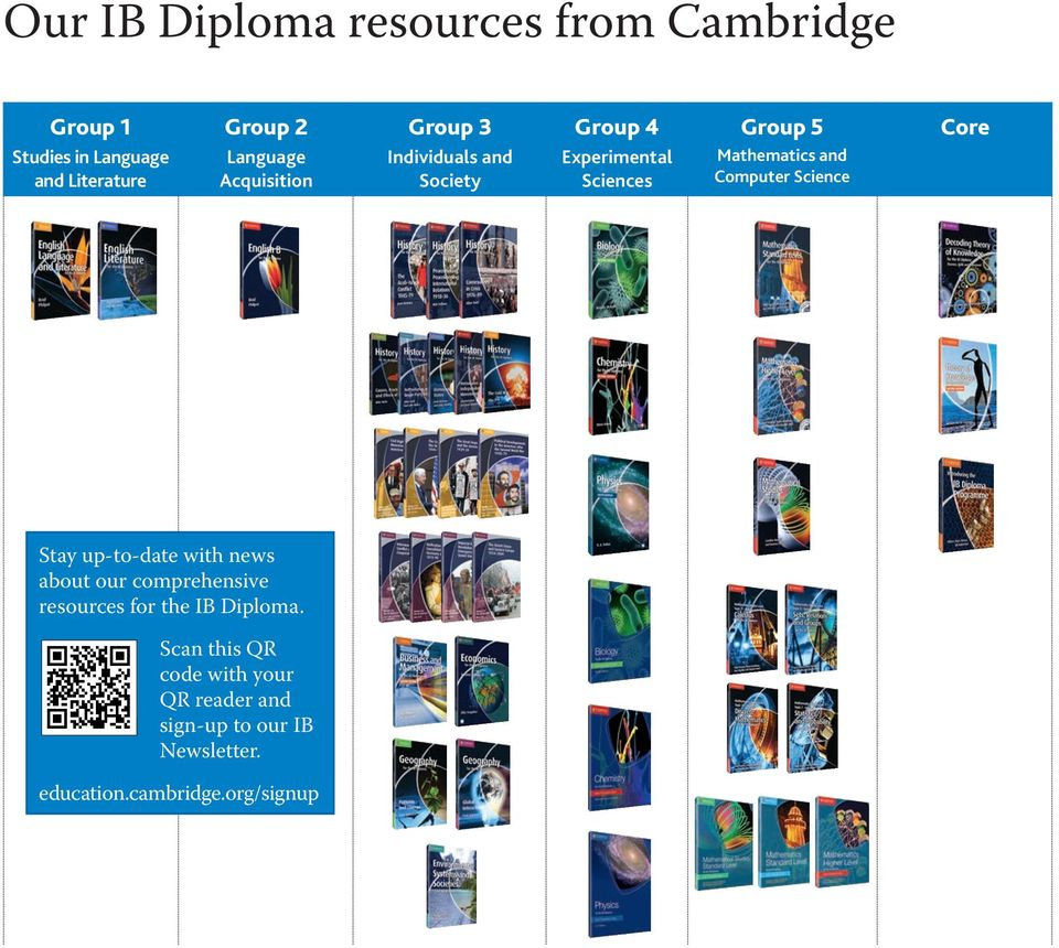 Computer Science Core Stay up-to-date with news about our comprehensive resources for the IB Diploma.
